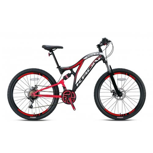 2021 Kron Ares 4.0 27.5 Jant Mekanik Disk Profesyonel Dağ Bisikleti Mat Siyah-Kırmızı
