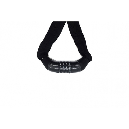 Zozo - 4 Lü Şifreli Zincir Kilit 4X120CM - Siyah