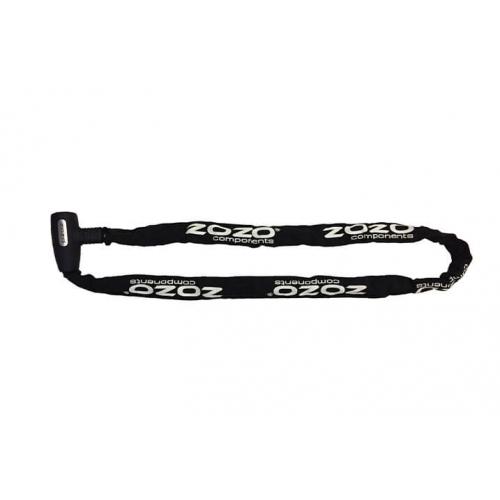 Zozo - Anahtarlı Zincir Kilit 4X120CM - Siyah