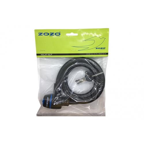 Zozo Zozo - Halat Kilit - 12X80CM Anahtarlı Siyah