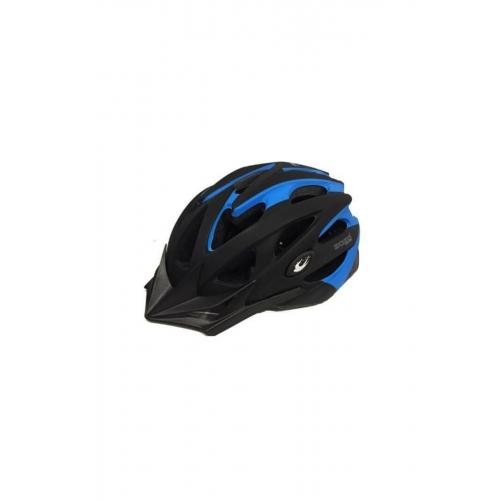 Zozo Mv-29 Işıklı Kaskı Mat Siyah - Mavi